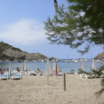 the view of cala vadella from the restaurant