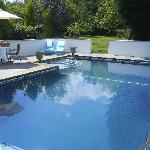 Heated out door swimming pool for all our guests