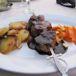 Delicious dinner!  This was what the waiter recommended.  Pork and Beef with potatoes.