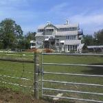 View of the B&B from the horse pasture.