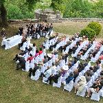A view from the castle of the wedding