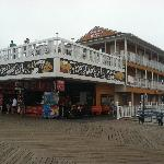 Hotel (with deck) as viewed from ocean boardwalk