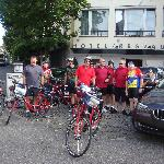 Getting ready to start biking at Rex Hotel.