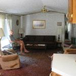 Livingroom in Cottage off of Main House