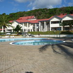 General view of the pools and front of the Resort