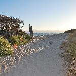 path onto the beach
