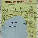 Map of Rabaul