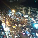 Night view from room of Jalan Alor