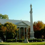 The Confederate soldier overlooks Franklin's antebellum courthouse on the town square. Our Haunt