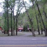 The Rio Grande is behind these cabins.