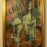 Picasso cubist print in room