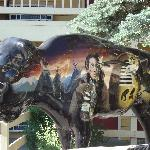 One of the painted buffalo