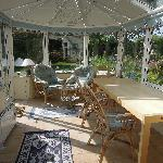 Hazel Cottage - breakfast area in conservatory