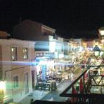 Main street at night (view from a bar balcony)