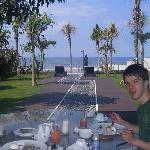 In villa breakfast with ocean view