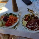 Antipasto lunch by the pool.