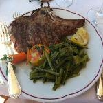 Lunch veal chop.