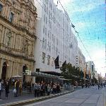 Myer in the centre of the Bourke Street Mall