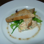 Smoked local trout pate