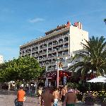The hotel fron the beach