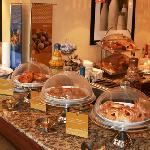 Enjoy our complimentary 'On The House' hot breakfast buffet each morning beginning at 6:00am to