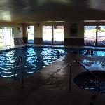 The indoor pool is open 24 hours.