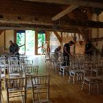 The barn ready for the big day!