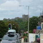 view of Dover castle from the B&B