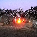 Cromelech of Almendres in thw Winter Solstice