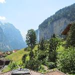 View of Staubach falls from Silberhorn Hotel
