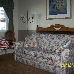  This suite has sleeper sofa plus bed in back room