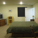  Bedroom. There&#39;s also a couch and a walk-in closet you can&#39;t see in the picture.