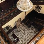  Looking down to front hall from top floor.