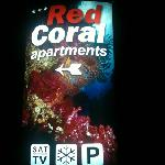  red coral road sign