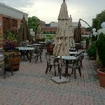 Pleasant patio across from DOD installation