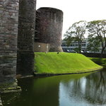 moat around the castle exterior