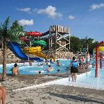 Water slides at the park