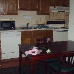 full kitchen with microwave & coffee maker