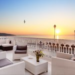 White Lounge Terrace Sunset