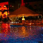 loving the night view of the pool