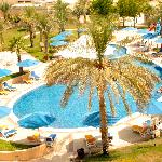 view of the pool from the balcony of Oasis Resaurant