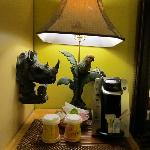  jungle themed room -coffee station