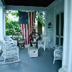 Front porch of Thaddeus Clapp House