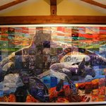 The Mural in Place in the Galiano Oceanfront Inn and Spa
