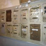 The mailboxes downstairs - nice