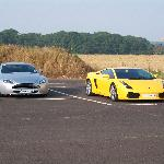 The Aston and Lamborghini