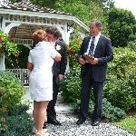 Summer wedding at the gazebo