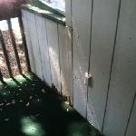 water damage to balcony area.