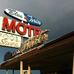Blue and White Motel Foto