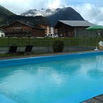 Outdoor swimming pool at the hotel Arlberg